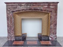 claude augustin cheminee ancienne marbre onyx louis xiv